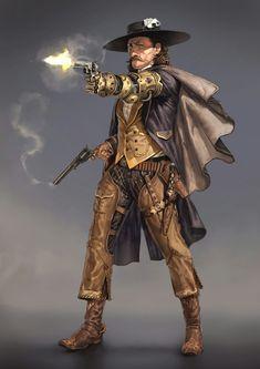 Steampunk gunslinger gambler