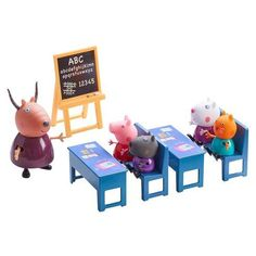 Superb Peppa Pig's Classroom Playset Now at Smyths Toys UK. Shop for Peppa Pig At Great Prices. Peppa Pig, Play Doh, Fisher Price, Suzy, Toddler Toys, Kids Toys, Muñeca Baby Alive, Pig Character, Barbie