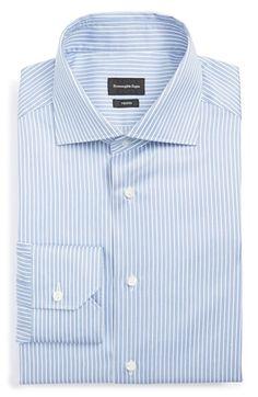Ermenegildo Zegna Regular Fit Stripe Dress Shirt