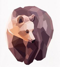 Ideas For Geometric Art Animal Illustration Low Poly Art D'ours, Polygon Art, Arte Sketchbook, Art Et Illustration, Illustrations Posters, Inspiration Art, Bear Art, Art Graphique, Animal Tattoos