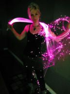 Pink Long fiber optic Whip toy For Pikachu cosplay in yellow? KEEP MEMO