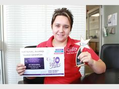 CANSA uThungulu Community Mobiliser Lizzy van Zyl with the awards won for Relay For Life 2015 fund-raising event PHOTO: DAVE SAVIDES