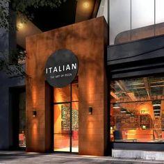 Modern Restaurant, Restaurant Exterior Design, Deco Restaurant, Cafe Interior Design, Pub Interior, Café Exterior, Design Exterior, Facade Design, Exterior Stairs
