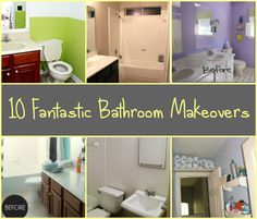 10 Fantastic Bathroom Makeovers...make sure to pull the appropriate permit before remodeling.