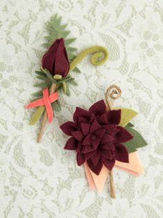 flor dália em feltro como fazer