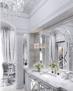 19 elegant bright bathrooms – the marble house - Marble Dream Bathrooms, Beautiful Bathrooms, Bright Bathrooms, Luxury Bathrooms, Elegant Home Decor, Elegant Homes, Marble House, Bathroom Interior Design, Design Case