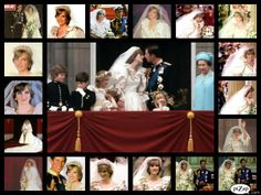 Beautiful Collage of The Royal Wedding of Prince Charles & Princess Diana ~~Created by Michelle Horner