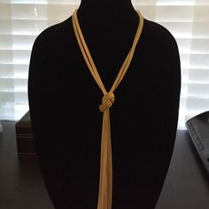 Gold tone herringbone chain with center knot Gold tone herringbone chain with center knot INC International Concepts Jewelry Necklaces