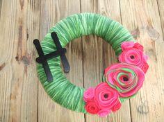 Watermelon Letter Garden 14 inch WreathSummer by rusticowldecor, $44.00