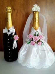 Nevesta a ženích - šampanské - NikaLUX