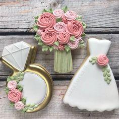 Wedding Dress Cookies, Wedding Shower Cookies, Wedding Cupcakes, Bridal Shower, Decorated Wedding Cookies, Fancy Wedding Cakes, Iced Sugar Cookies, Royal Icing Cookies, Cupcake Cookies