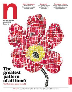 N by Norwegian, magazine cover, airlines, Marimekko, the greatest pattern of all times?