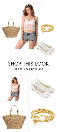 """""""White and Gold Summer"""" by prettyshe ❤ liked on Polyvore featuring Accessorize, Lilly Pulitzer and Colana"""
