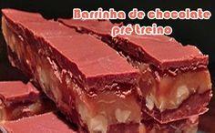Barrinha de chocolate pré treino - Receitas fit #receitas #receitasfit #fitness #light #dieta #treinamento #academia