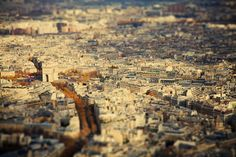 PARIS by Ben Thomas, via Behance  (using the Tilt Shift Effect)
