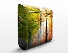#Briefkasten mit #Zeitungsfach - #Morning Light - #Hausbriefkasten #Spätsommer #goldener #Herbst #endlesssummer #Farbrausch #Farben #gelb #orange #braun #farbenfroh