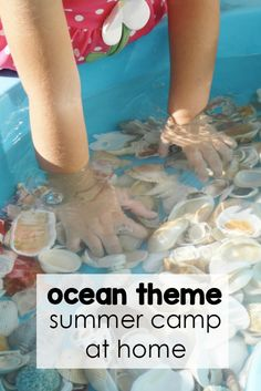 Looking for a fun way to have some summer camp weeks at your house? How about ocean theme?! This roundup has some wonderful ideas to have an ocean themed summer week with your kids.  #summergames #oceanthemedactivities #summercampideasforkids