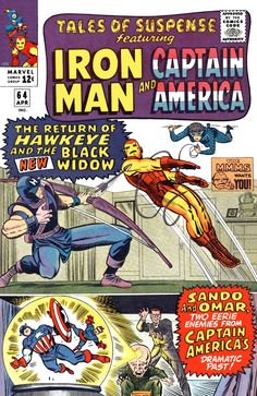 Tales Of Suspense April cover by Jack Kirby and Chic Stone Avengers Comics, Marvel Comic Books, Comic Books Art, Comic Art, Dc Comics, Comic Book Artists, Comic Book Characters, Marvel Characters, Jack Kirby