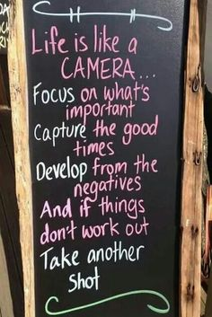 Life goals, life quotes, life memes, life is like a camera, focus on what is positive Life Change, Cool Words, Wise Words, Great Quotes, Inspirational Quotes, Motivational Quotes, Uplifting Quotes, Awesome Quotes, Happy Quotes