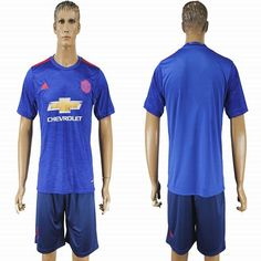 2016-2017 Manchester united club blue soccer jersey away
