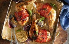 Honey, sage and bacon roast chicken