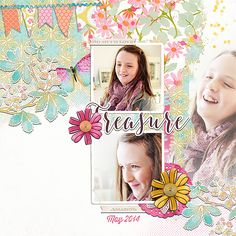 Treasure by Lynn Grieveson (The Lily Pad) using April kit and Springboard Templates No.02.