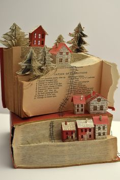 Betty Pepper - Living on the Edge - Handmade Everything Pinterest Origami, Book Crafts, Paper Crafts, Altered Book Art, Book Folding Patterns, Living On The Edge, Folded Book Art, Book Sculpture, Book Projects