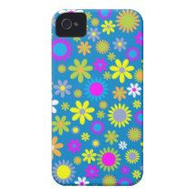 Colorful flower like patterns Case-Mate iPhone 4 cases