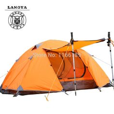 63.89$  Buy here - http://ali23p.worldwells.pw/go.php?t=32323688884 - Waterproof Tourist Tents 2 person Outdoor Camping Equipment Double Layer Dome Aluminum pole Camping Tent with snow skirt