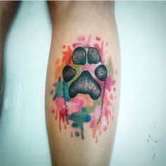 dog water color tattoo - Pesquisa Google