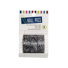 American Crafts - Hall Pass Collection - Adult Coloring - Washi Tape - Sketch…