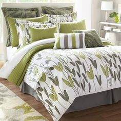 wholeHome CONTEMPORARY(TM/MC) 'Annie' 12-Piece Duvet Cover Set
