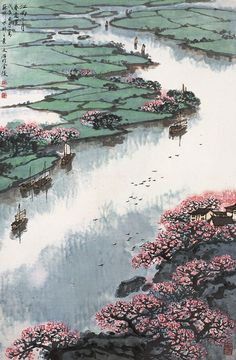 Spring. Song Wenzhi 宋文治 1919-1999 via TW by Melody Wu‏ @melodywoo1983