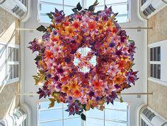 Paper artist Zoe Bradley creates chandeliers for London Burlington Arcade art installation