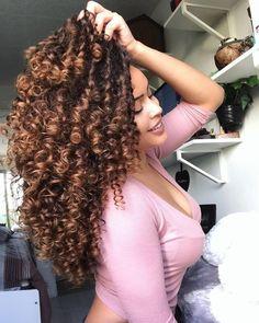 56 New Ideas Hair Goals Black Natural Curls Love Hair, Big Hair, Gorgeous Hair, Curly Hair Styles, Natural Hair Styles, Natural Curls, Pretty Hairstyles, Hair Goals, Dyed Hair
