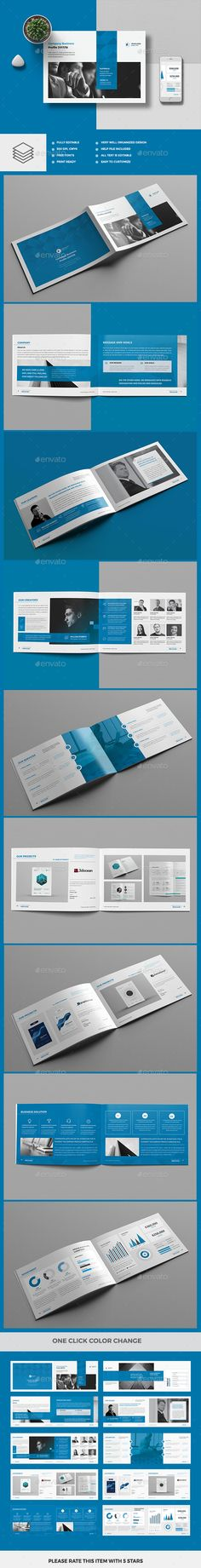Square Company Profile Brochure Square company, Company profile - corporate profile template