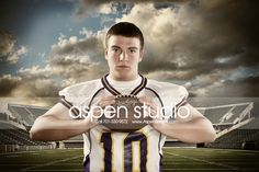 For Guy Idea Picture Senior Football Helmet | nice guys senior portrait ideas guys sports baseball football senior ...