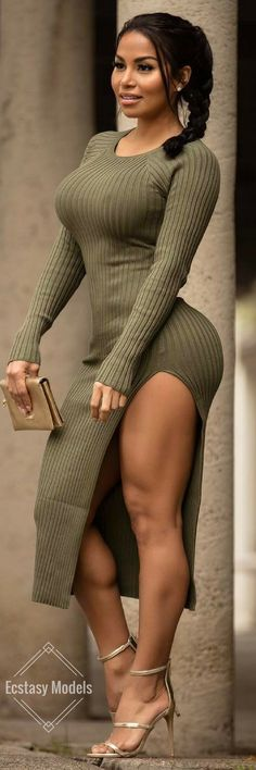 Olive Dress by @SexyDresses // Fashion Look by Miss Dolly Castro