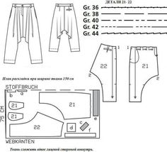 Sarouel Trousers Pattern
