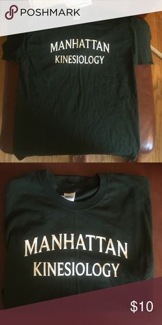 Manhattan College Kinesiology Shirt Please Make Offer Forest Green Size Large Excellent Condition - Like New Original Price $25 Shirts Tees - Short Sleeve