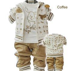 adorable!!    Google Image Result for http://i01.i.aliimg.com/wsphoto/v0/596983943_1/Free-Shipping-Wholesale-Cute-dog-Girls-Boys-Suits-Baby-Boy-Set-3-piece-Infant-Suits-Set.jpg