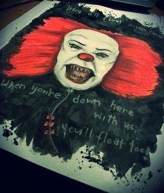 Pennywise - IT Mixed media. Unfinished.