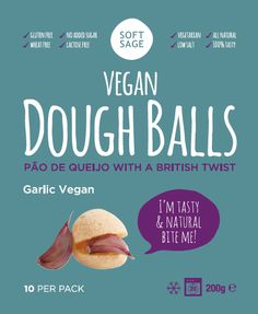 Vegan Dough balls, Garlic flavour *glutenfree *eggfree *vegan www.softsage.co.uk