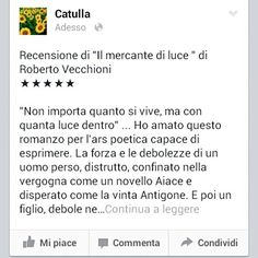 Hey guys, my review is online! Go on my Facebook page! :) #robertovecchioni #ilmercantediluce