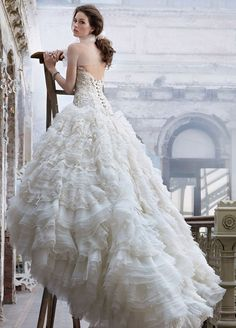 Such a gorgeous wedding gown! DiY Wedding Photo booth White One 2013 Perfect Wedding Dresses wedding dresses wedding glamour featured fashio. Lazaro Wedding Dress, Amazing Wedding Dress, Wedding Gowns, Lazaro Bridal, Lace Wedding, Wedding Bride, Spring Wedding, Baroque Wedding, Wedding Girl