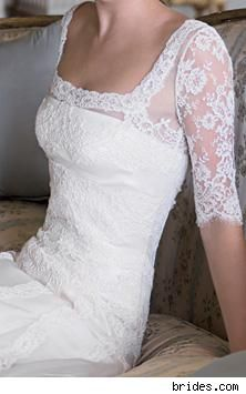 Lovely lace.  Sleeves seems to be very on-trend right now in gowns.  Love it.