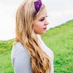 Plum Lace Headband