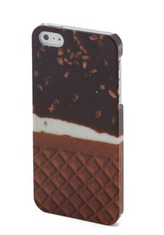 Good Enough to Tweet iPhone 5/5S Case. Snap a pic of your latest culinary adventure with your phone secured in this ice cream-printed iPhone case, and share it with your adoring friends 'n' fans! #brown #modcloth