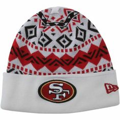 New Era San Francisco 49ers Ivory Cuffed Knit Beanie