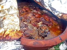 Cyprus Gastronomy. Tavas cooked in a traditional clay oven.